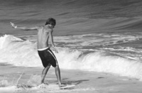 Charles Ruger  Dance with Poseidon (Palm Beach) , 2004 gelatin silver print 16 x 20 in. 30 x 40 in.
