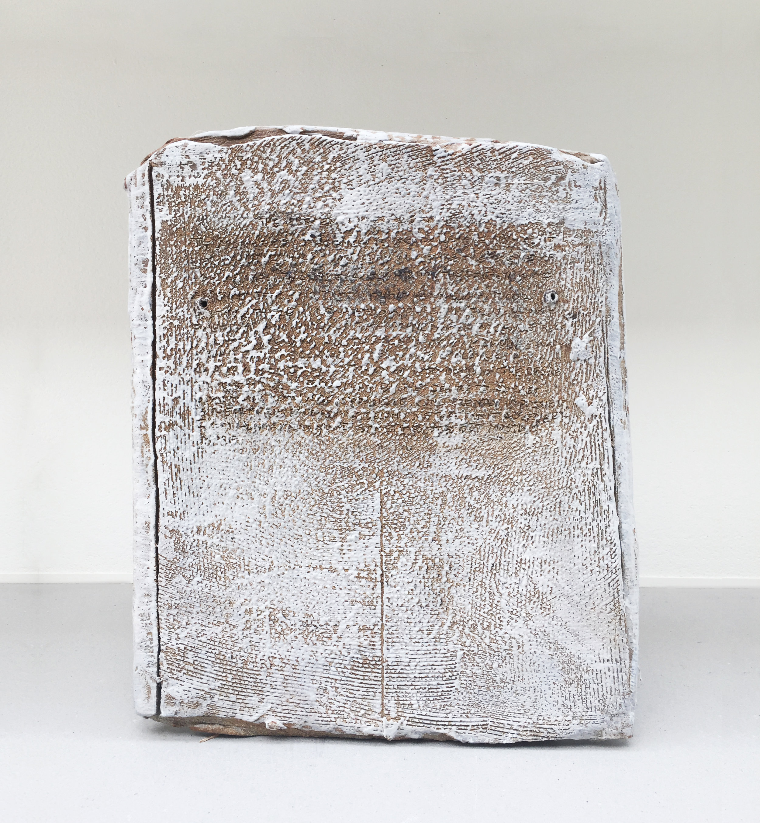 Toni Ross  Stele #29 , 2016 stoneware and slip 13 5/8 x 11 3/8 x 5 in.