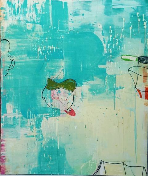 Gary Komarin  Blue Sea Rangoon  oil on canvas 72 x 60 in.
