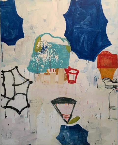 Gary Komarin  Dirty White, Majorca   oil on canvas 84 X 66 in.