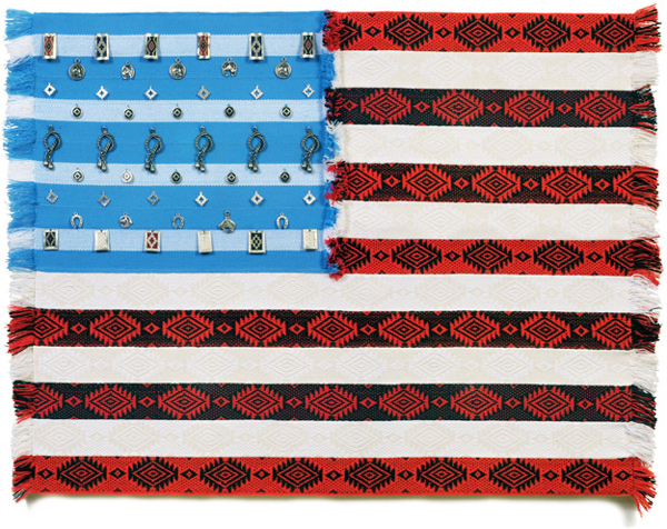 Muriel Stockdale  Argentine,  2009 gaucho hand-woven sashes and symbols 24 x 35 in.