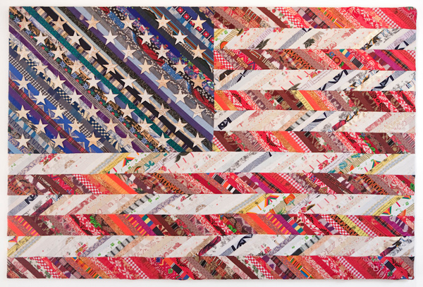 Muriel Stockdale  Harmony,  2011 fabric from around the world 48 x 72 in.