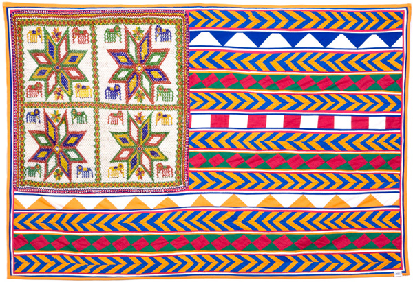 Muriel Stockdale  Rajasthani,  2006 beads, patchwork and cotton fabric 24 x 36 in.