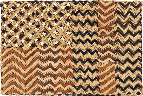 Muriel Stockdale  Zaire,  2009 Kuba cloth - hand made bark velvet 24 x 36 in.