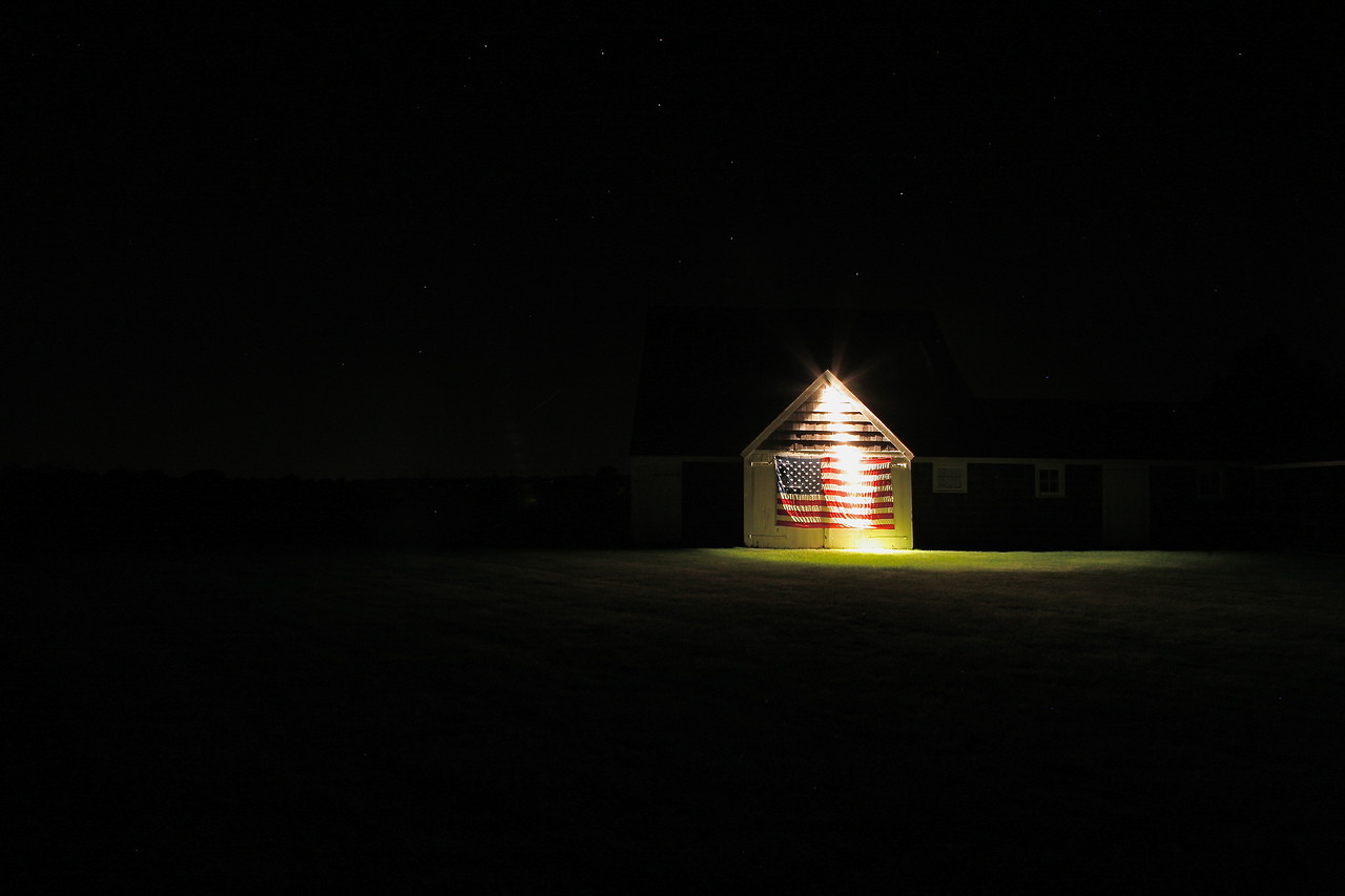 Geoff Reinhard  Stars n' Stripes Under the Stars  (Sagaponack, NY) archival pigment print 30 x 40 in. additional sizes available editions of 15