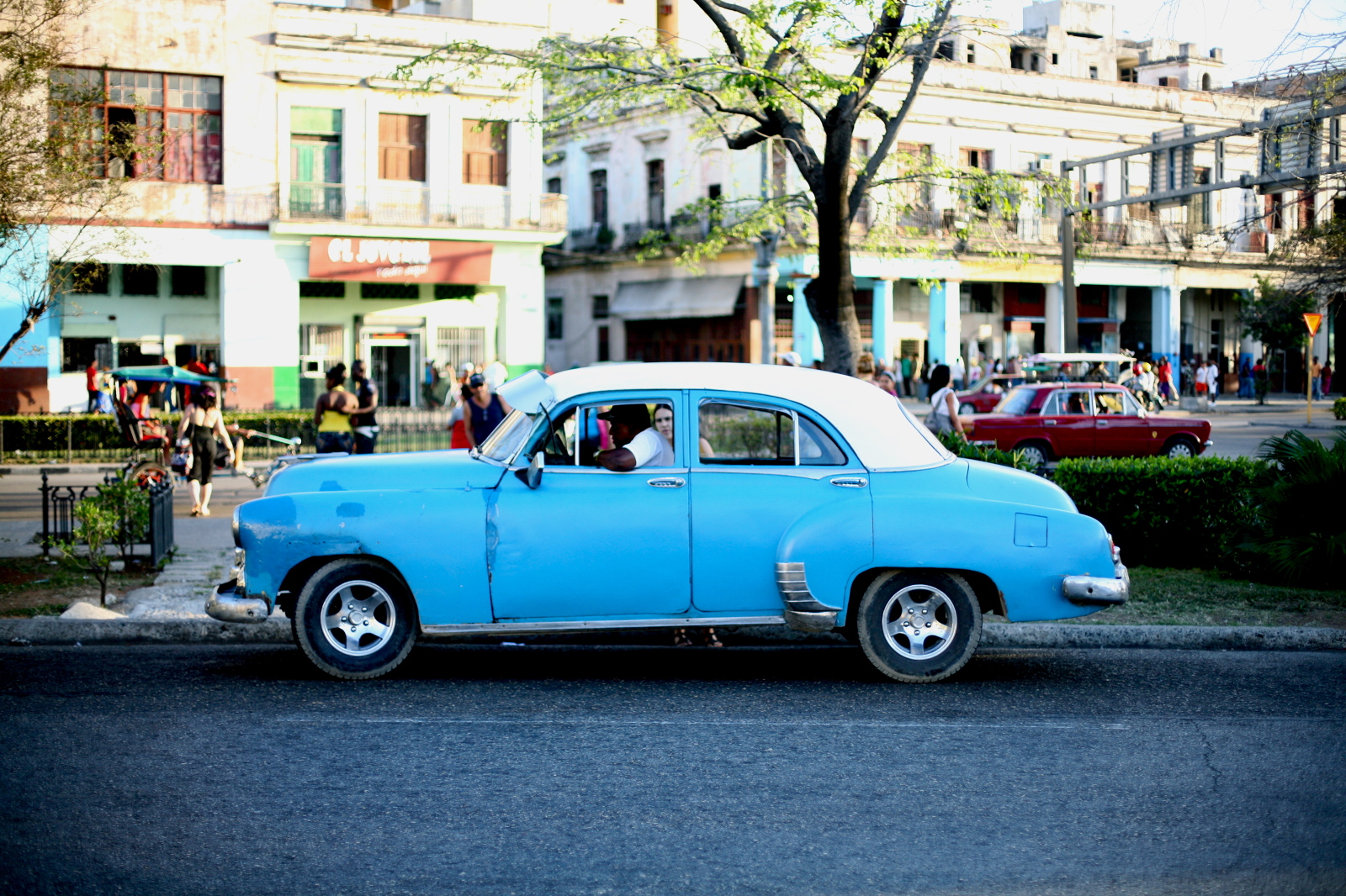 Geoff Reinhard  Taxi - Cuba  (Havana) 2012 archival pigment print 30 x 44 in. additional sizes available editions of 15