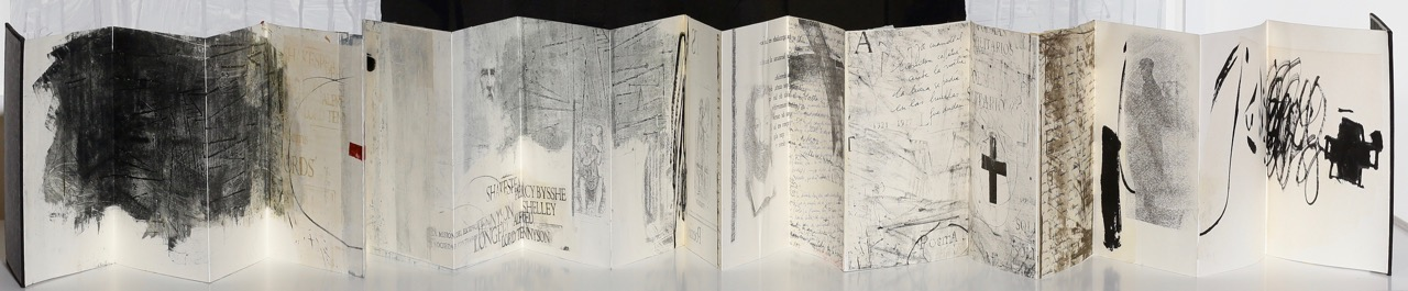 Maria Noel Artist Book,Series  On Books, Labyrinths and Poets , 2009 mixed media on paper and bound with conjoined papers 11 x 8 x 1 in. (overall book size) 18 conjoined double-sided pages