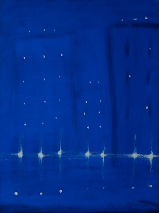 Kathryn Lynch  City Lights  oil on paper 29 3/4 x 22 1/4 in.
