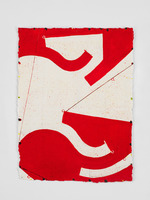 Caio Fonseca  Pietrasanta P14.25 , 2014 gouache on paper 16 1/2 x 12 in.