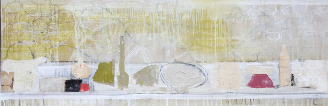 Charlotte Culot  Suite Blanche , 2014 canvas 19 1/2 x 60 in.