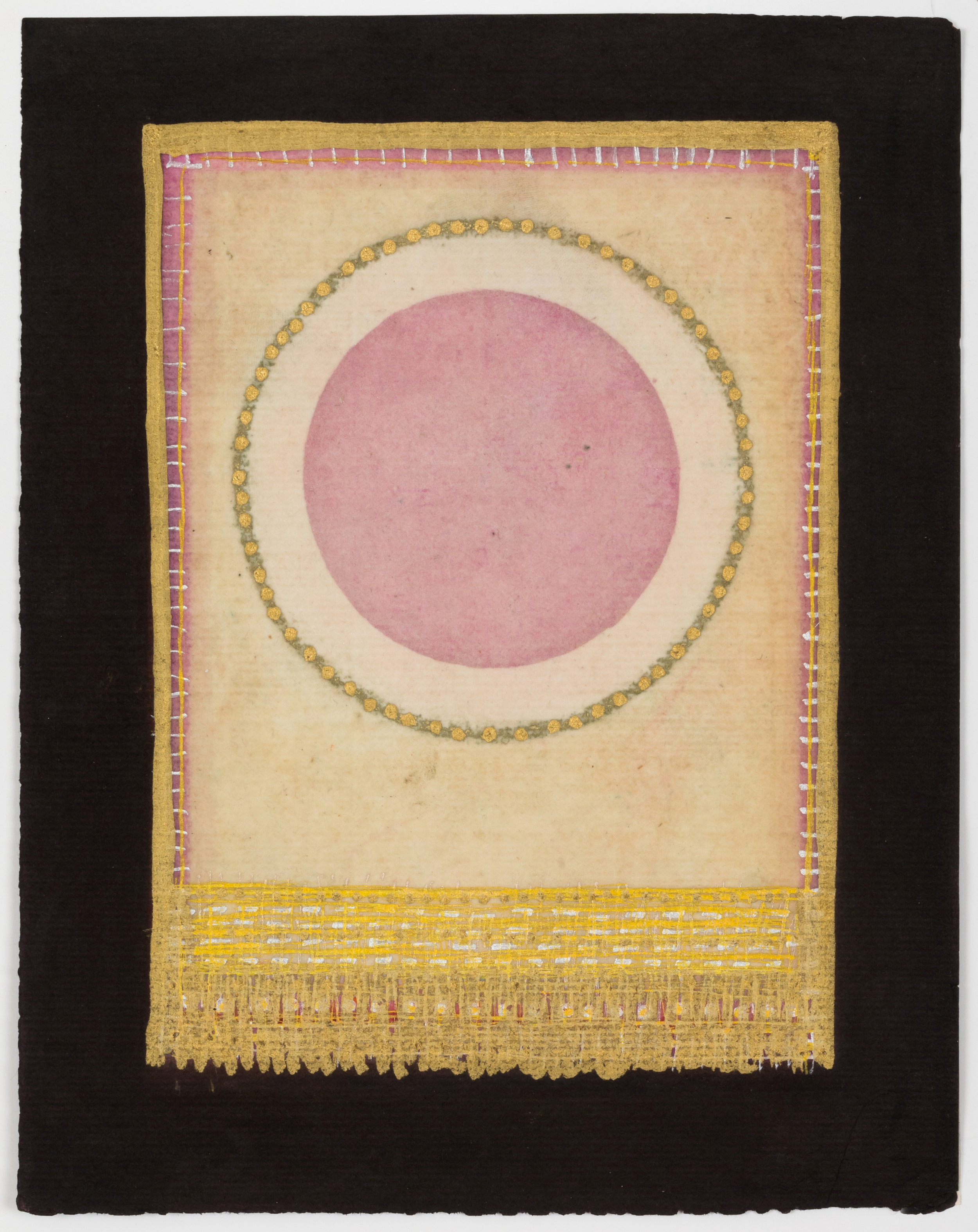 Olivia Munroe  Histories, 248 , 2016 beeswax, ink, metallic powder on vintage hand made paper  9 3/4 × 7 5/8 in.