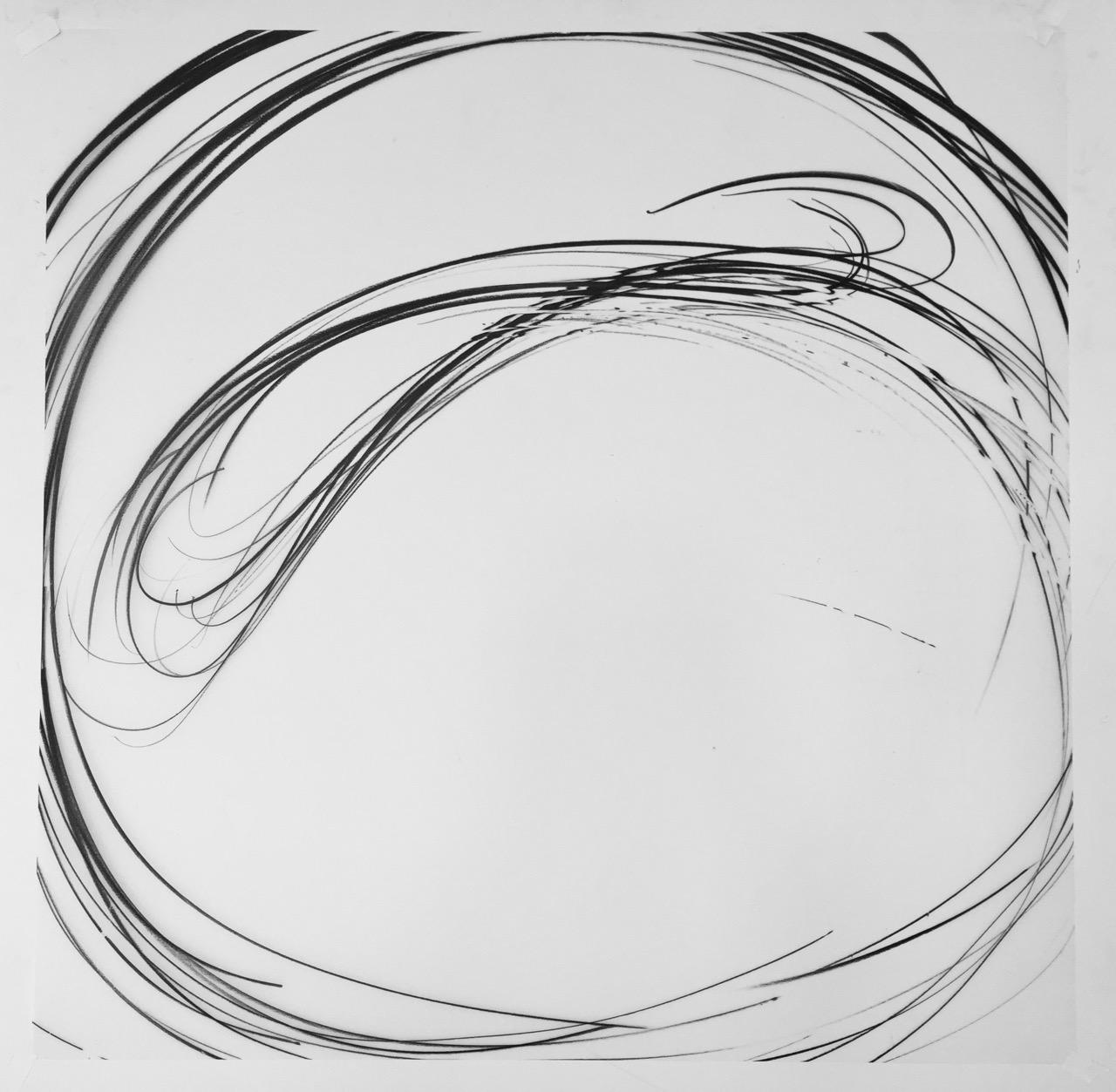 Jaanika Peerna  Maelstrom Series #78 ,2018 wax pencil on mylar 36 x 36 in.