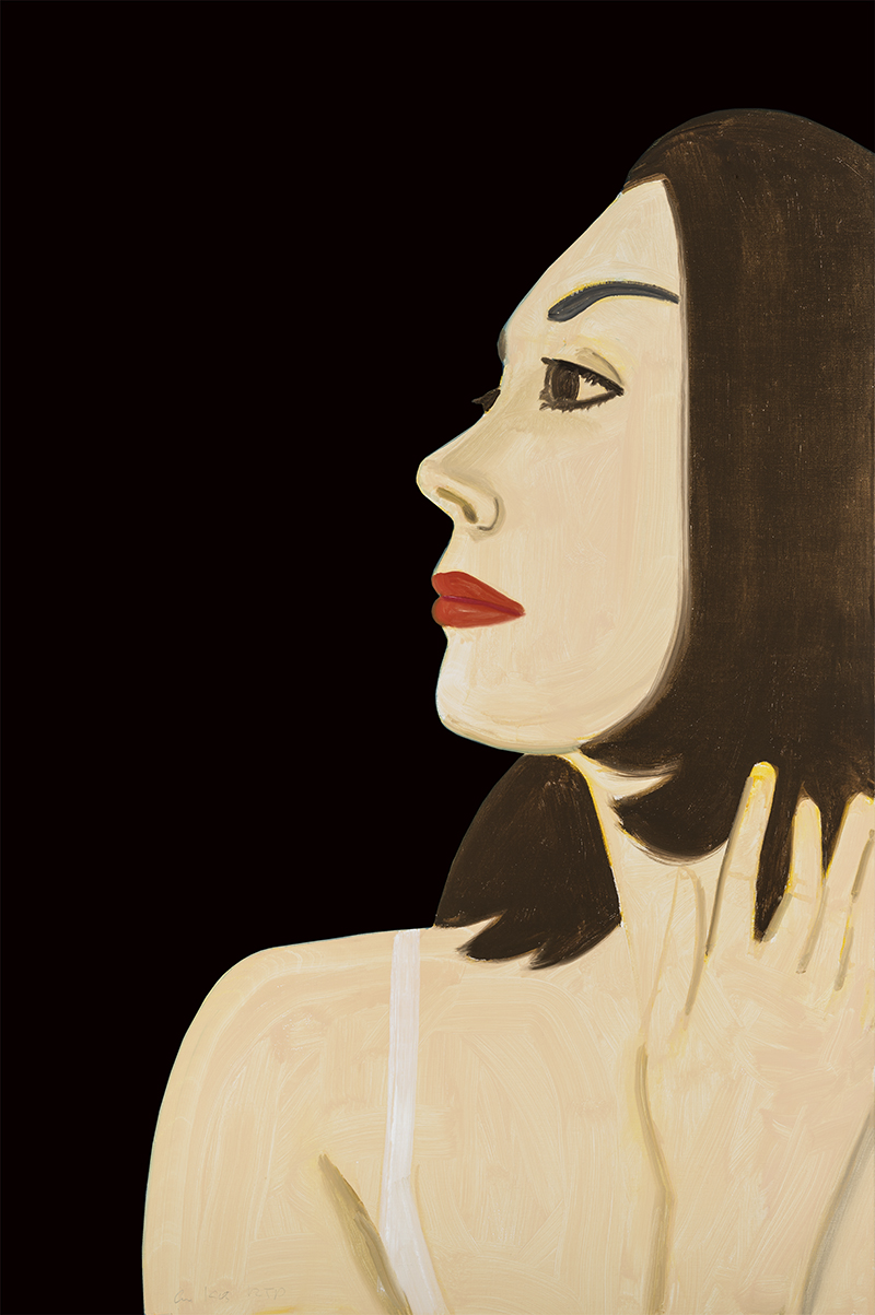 Alex Katz  Laura 1 , 2017 archival pigment inks on Crane Museo Max 365 gsm fine art paper 46 x 30.5 in.