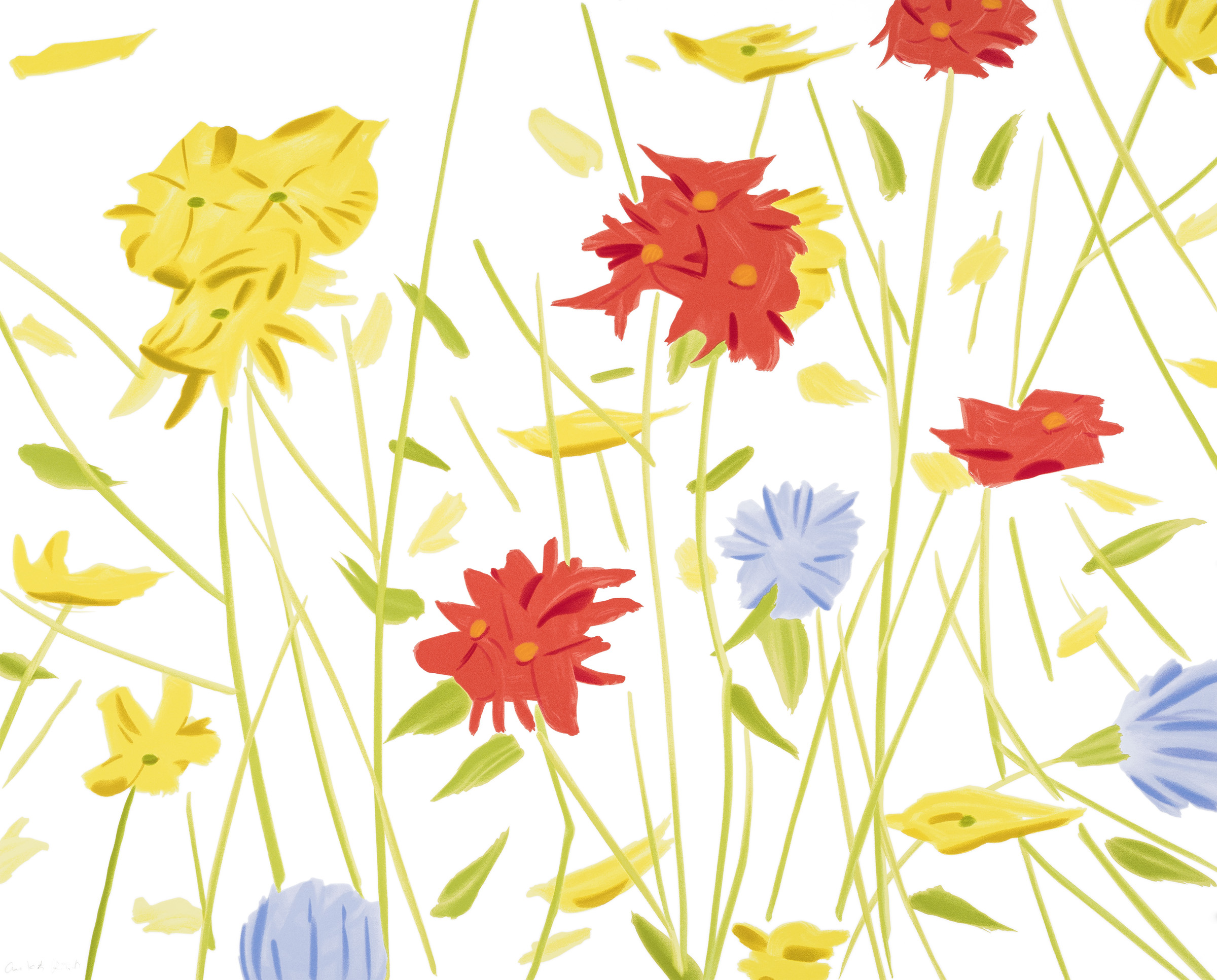 """Alex Katz  Wildflowers , 2017                       Normal    0                false    false    false       EN-US    X-NONE    X-NONE                                                                                                                                                                                                                                                                                                                                                                                                                                                                                                                                                                                                                                                                                                                                                                                                                                                                                                                                                                                                                                                                                                                                                                                                                                                                  /* Style Definitions */  table.MsoNormalTable {mso-style-name:""""Table Normal""""; mso-tstyle-rowband-size:0; mso-tstyle-colband-size:0; mso-style-noshow:yes; mso-style-priority:99; mso-style-parent:""""""""; mso-padding-alt:0in 5.4pt 0in 5.4pt; mso-para-margin:0in; mso-para-margin-bottom:.0001pt; mso-pagination:widow-orphan; font-size:12.0pt; font-family:""""Calibri"""",sans-serif; mso-ascii-font-family:Calibri; mso-ascii-theme-font:minor-latin; mso-hansi-font-family:Calibri; mso-hansi-theme-font:minor-latin; mso-bidi-font-family:""""Times New Roman""""; mso-bidi-theme-font:minor-bidi;}     21-color silkscreen on Saunders Waterford 425 gsm paper 40 x 50 in."""
