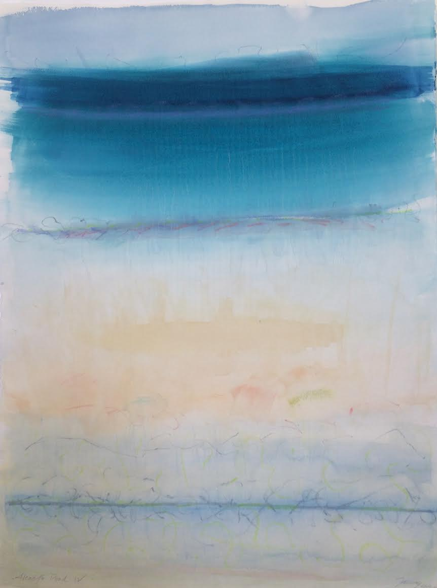 Janet Jennings  Alewife Pond IV, 2017 watercolor on arches paper 30 x 22 in.