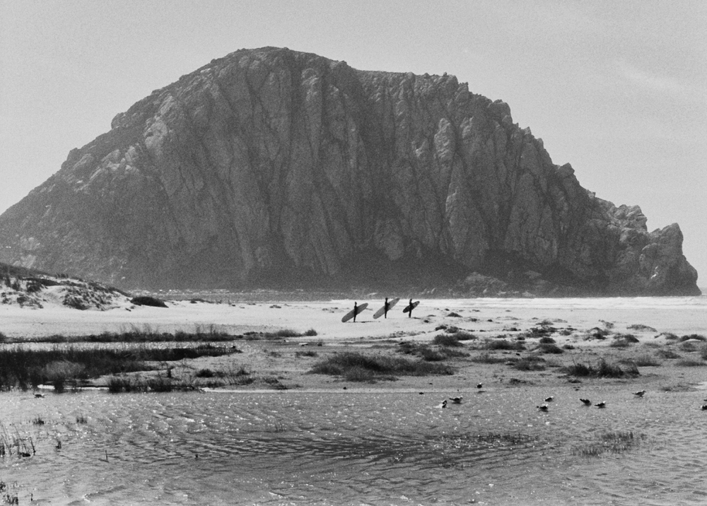 Joni Sternbach  Surfers Morro Rock,  2013 gelatin silver print mounted on museum board 16 x 20 in.