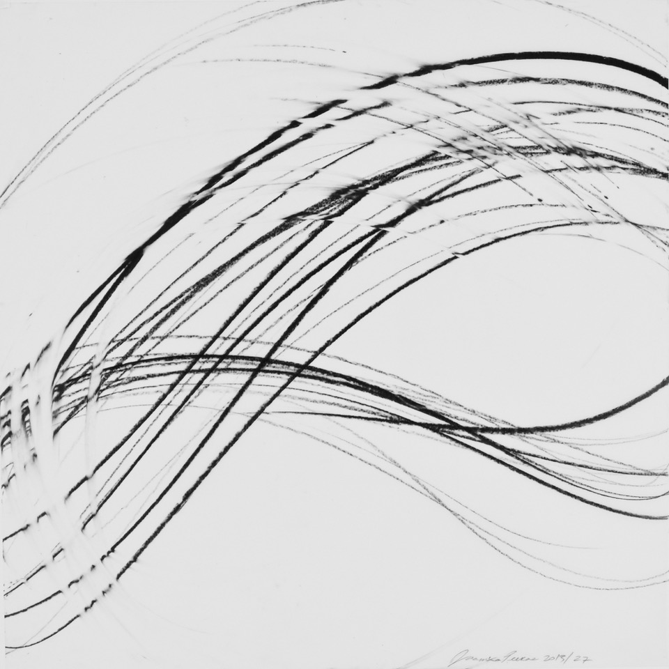 JAANIKA PEERNA  Undulations 27,  2013 pigment pencil on mylar 18 x 18 in.