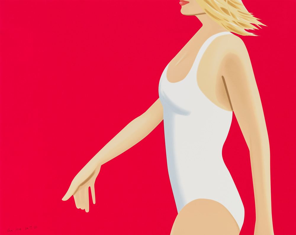 ALEX KATZ  COCA-COLA GIRL 1  20-color silkscreen 40 x 50 in. edition of 60  unavailable as a single print