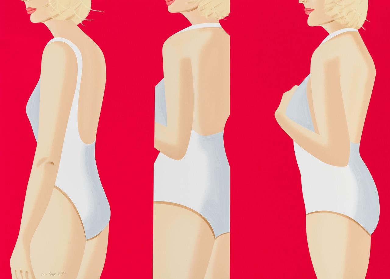 ALEX KATZ  COCA-COLA GIRL 5  20-color silkscreen 40 x 56 in. edition of 60