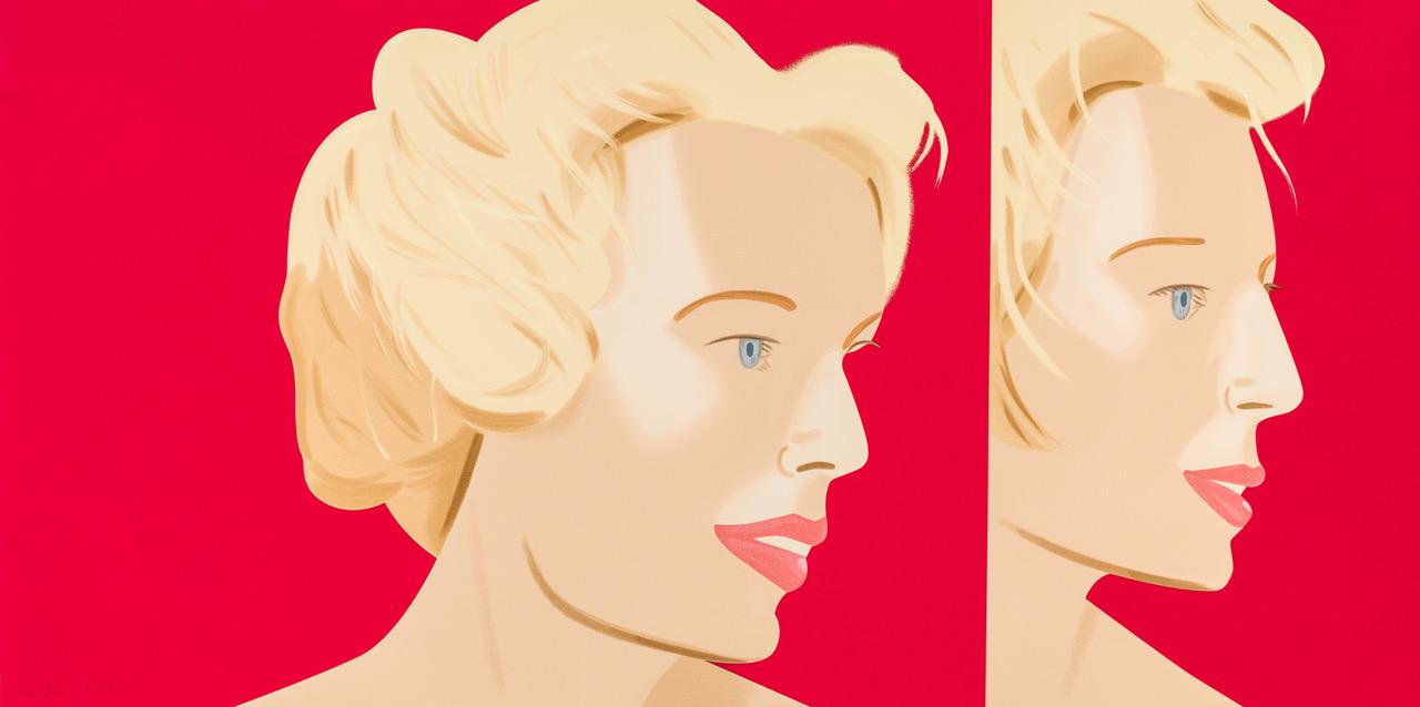 ALEX KATZ  COCA-COLA GIRL 6  22-color silkscreen  36 x 72 in. edition of 60