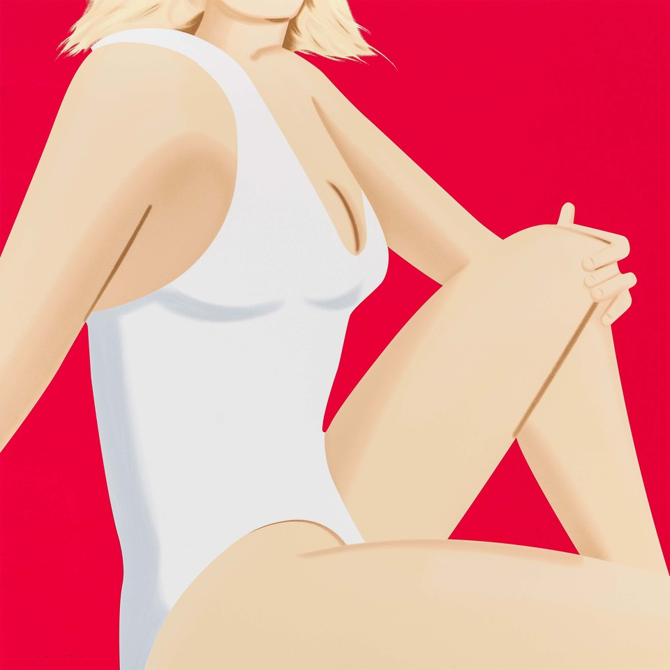 ALEX KATZ  COCA-COLA GIRL 7  19-color silkscreen 40 x 40 in. edition of 60