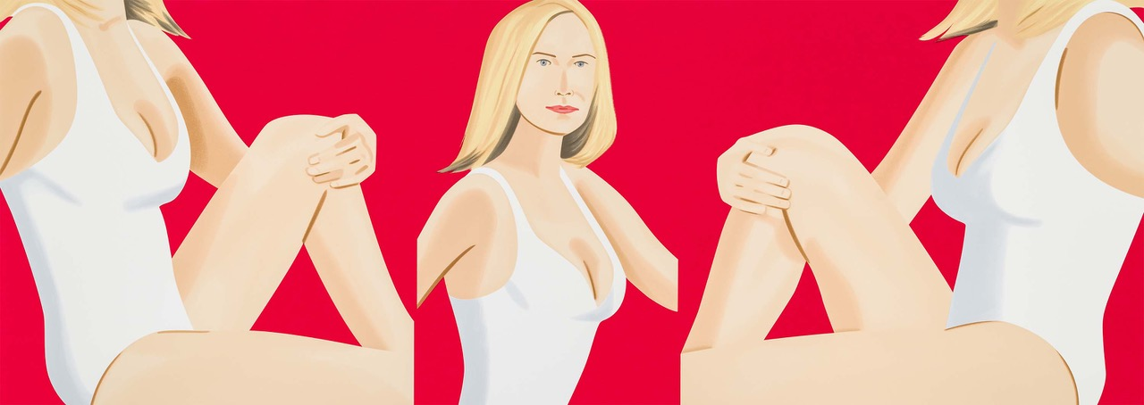 ALEX KATZ  COCA-COLA GIRL 9  26-color silkscreen 36 x 102 in. edition of 60