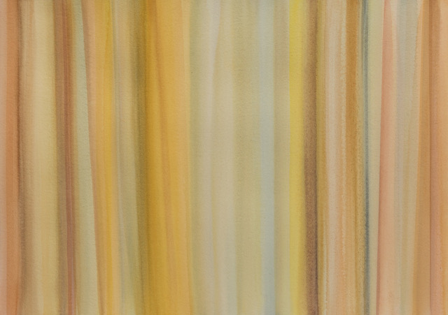 JANET JENNINGS  Orange Lines,  2017 watercolor and pastel on arches paper 26 ½ x 33 ½ in