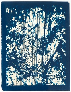 LAURIE LAMBRECHT  Arc,  2014 cyanotype on rag paper 16 1/2 x 12 1/4 in