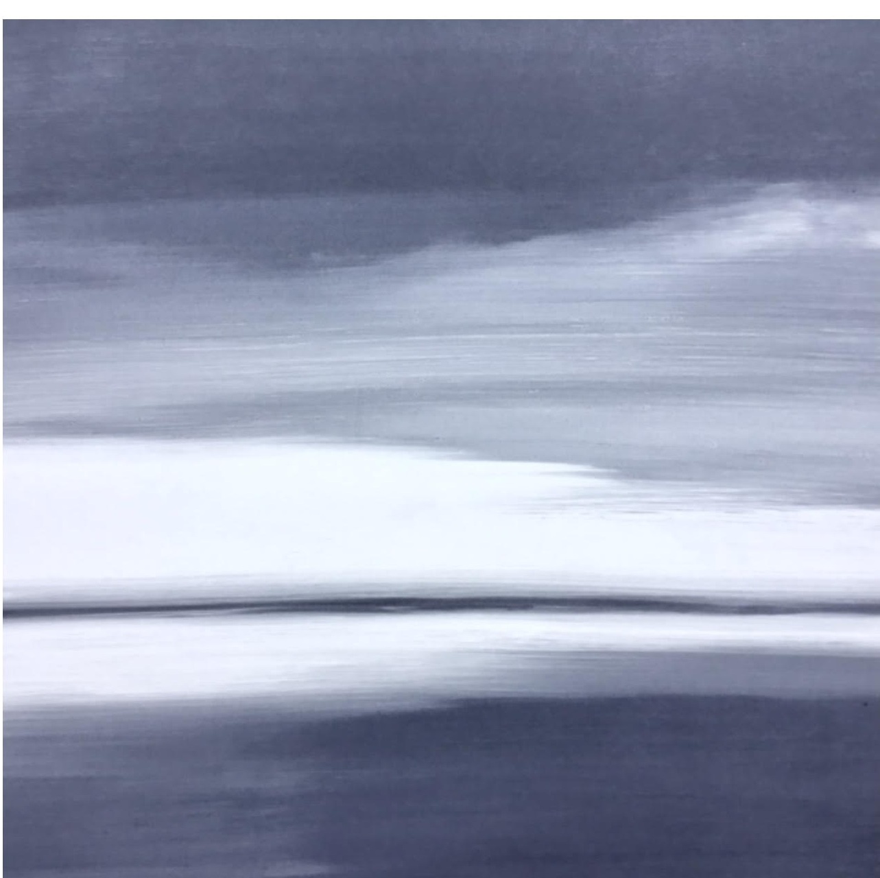 Frances Ashforth  Grayscape 1 , 2014 unique waterbase monotype 22 x 22 in.