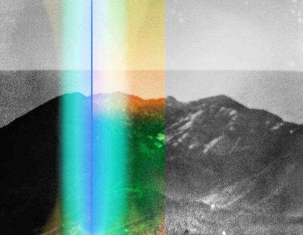 Penelope Umbrico  Weston with GreenPlastic SplitScreen and LightLeak,  2014 chromogenic print 28 x 36 in.