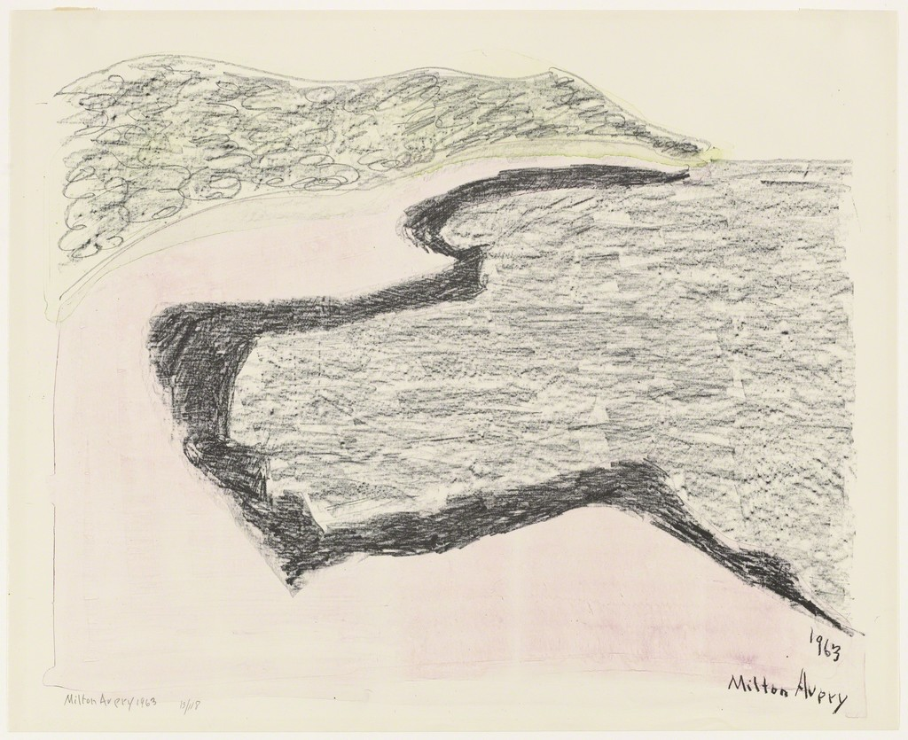 Milton Avery   Grey Sea,  1963 Lithograph, signed, dated and # 57/118 21 1/2 x 26 1/2 in.