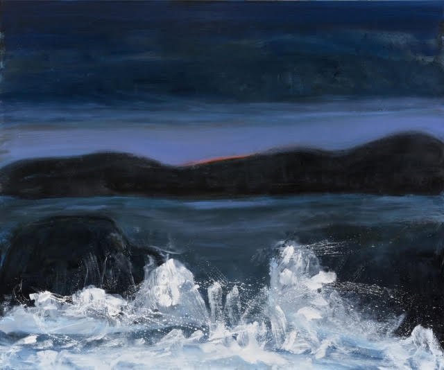 Kathryn Lynch  Wave,  2019 oil on linen 60 x 72 in.