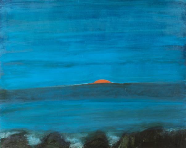 Kathryn Lynch  Pop Up Sun,  2019 oil on canvas 48 x 60 in.