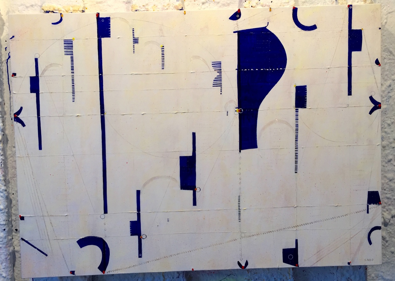 Caio Fonseca  Pietrasanta C15.12,  2014 mixed media on canvas 38 x 53 in.