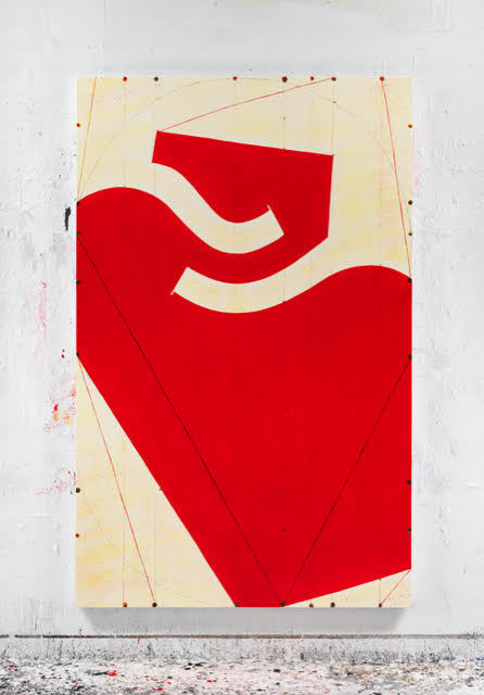 Caio Fonseca  Fifth Street C13.23  mixed media on canvas 82 x 52 in.