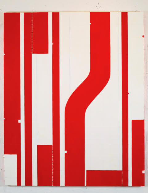 Caio Fonseca  Fifth Street C12.2  mixed media on canvas 87 x 71 in.