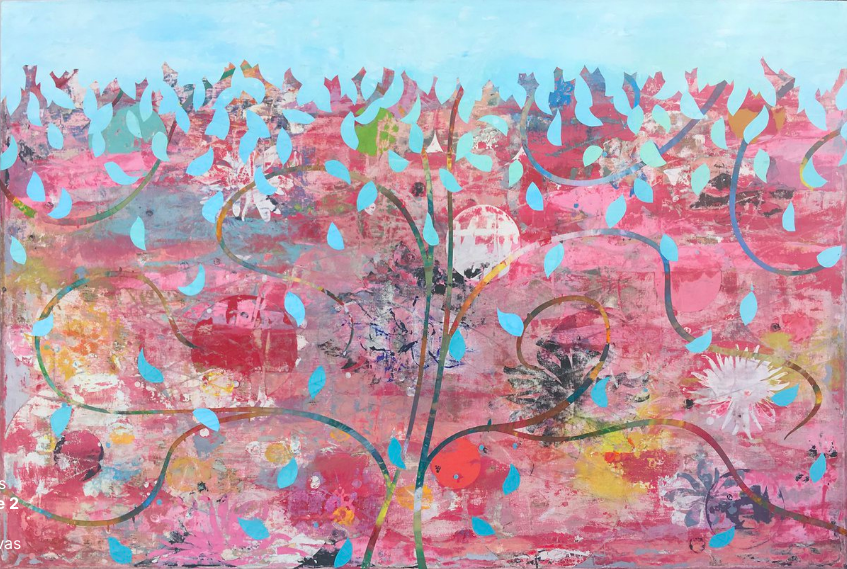 Perry Burns  Tree of Life 2  oil on canvas 40 x 60 in.