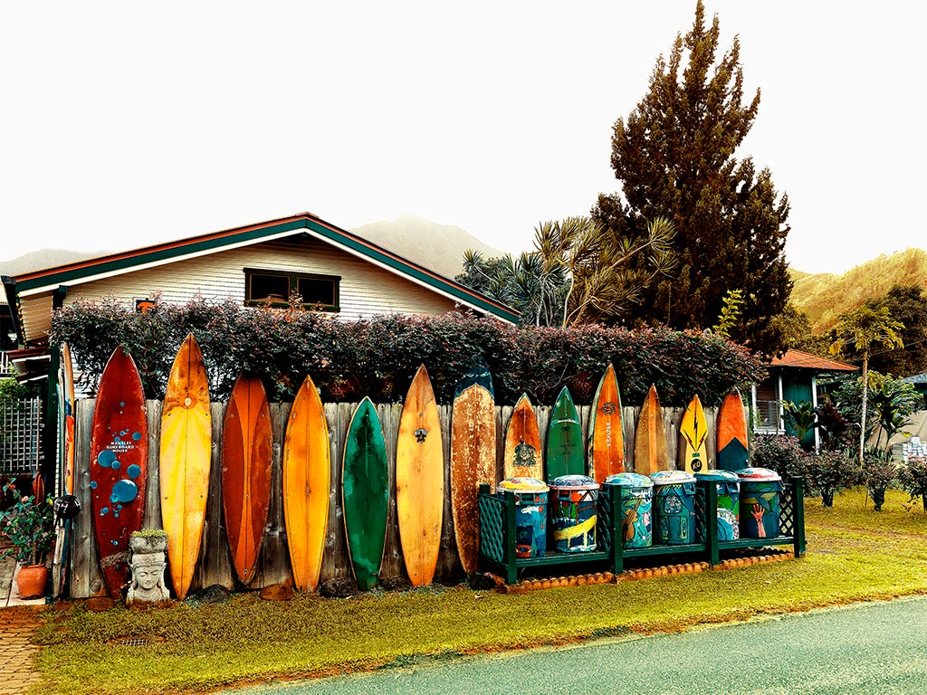 Thom Gilbert  Street Cans (Kauai)  archival ink jet print with archival pigment ink on all cotton acid free paper 24 x 30 in.  also available in 17 x 22 in.  edition of 100
