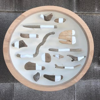 Jane Parkes  Slow Motion , 2019 found driftwood and paint assembled in a wooden bowl 10 in. diameter