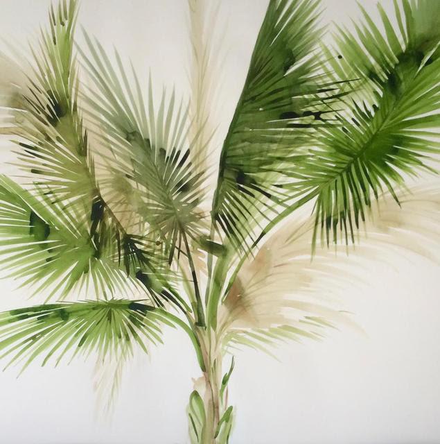 Idoline Duke  Big Palm I , 2019 Watercolor on paper 36 x 36 in.