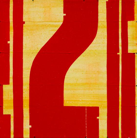 Caio Fonseca  Pietrasanta C11.73,  2010 mixed media on canvas 20 x 20 in.