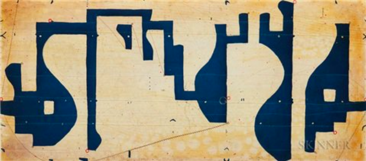 Caio Fonseca  Seven String Etching, Obliques,  2001 Color spitbite aquatint with softground and chine collé 34 ½ x 26 ¾ in.
