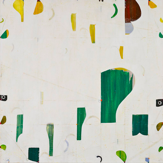 Caio Fonseca  Pietrasanta C08.27,  2010 mixed media on canvas 45 x 45 in.