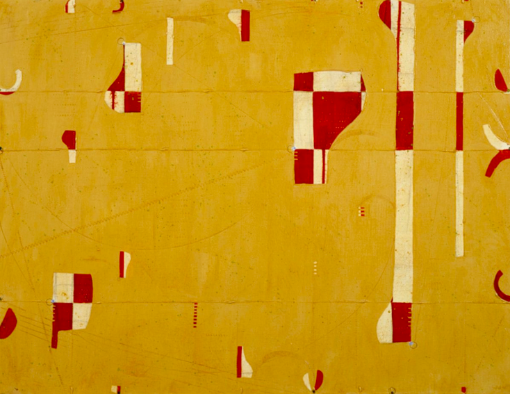 Caio Fonseca  Pietrasanta C05.27,  2010 mixed media on canvas 35 x 45 in.