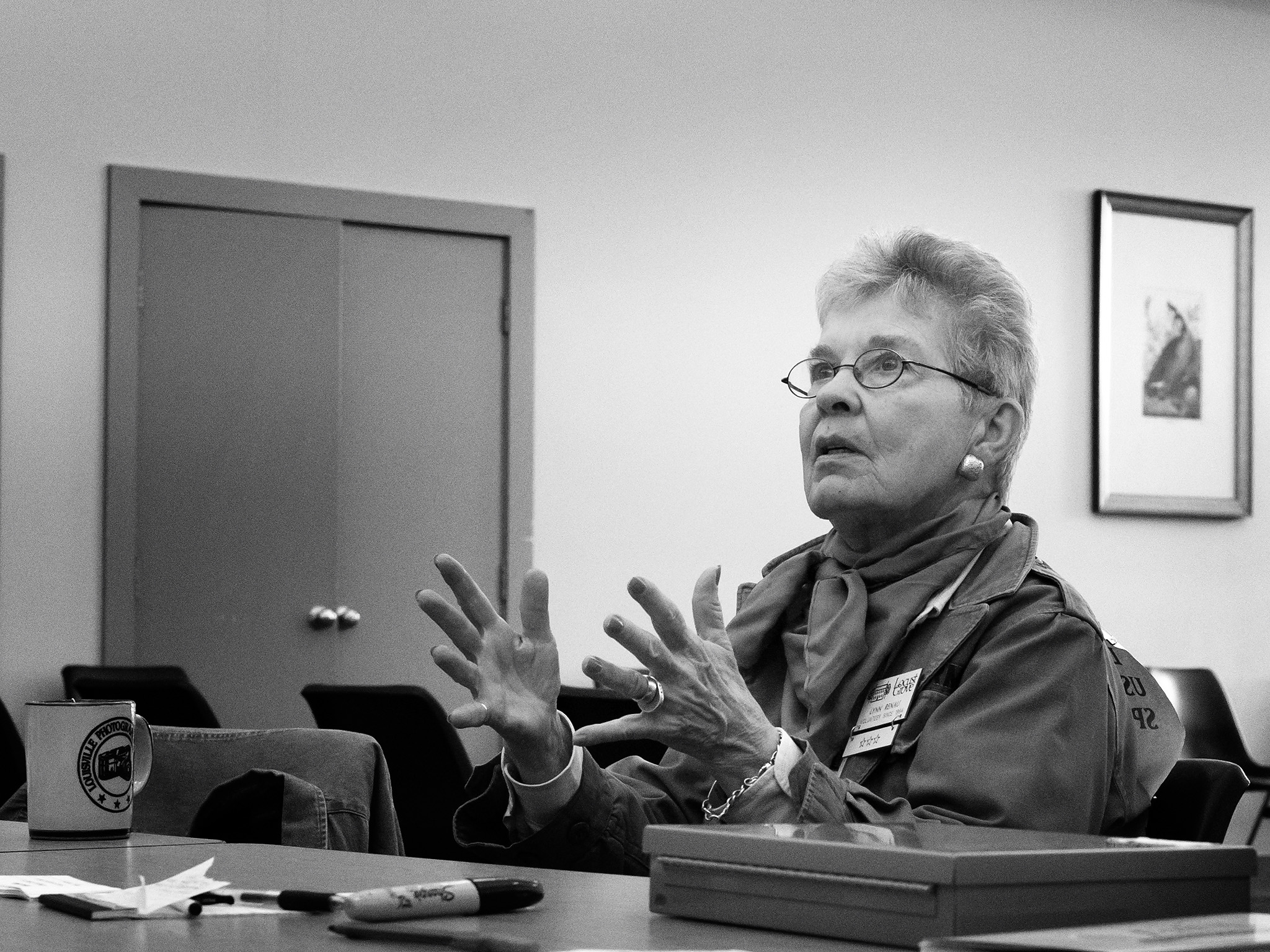 Lynn Renau at  Historic Locust Grove in October.  Photo credit: Jason Hiner