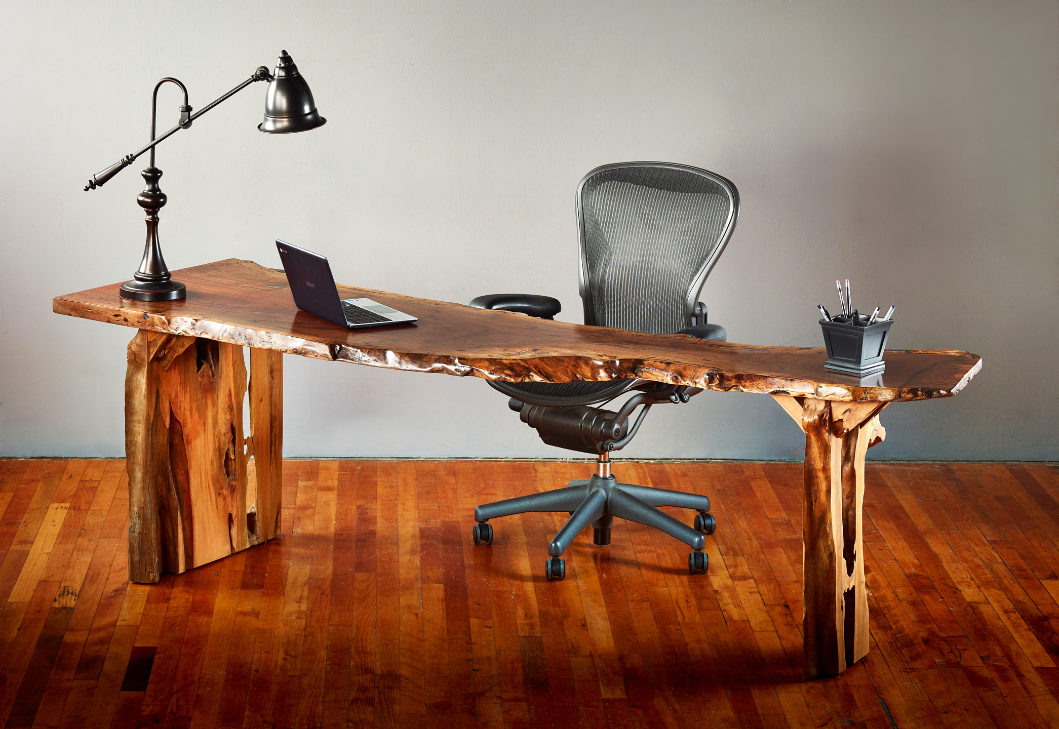 Claro Walnut Desk