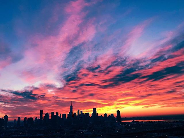 Supremely grateful for sunrises over New York City.