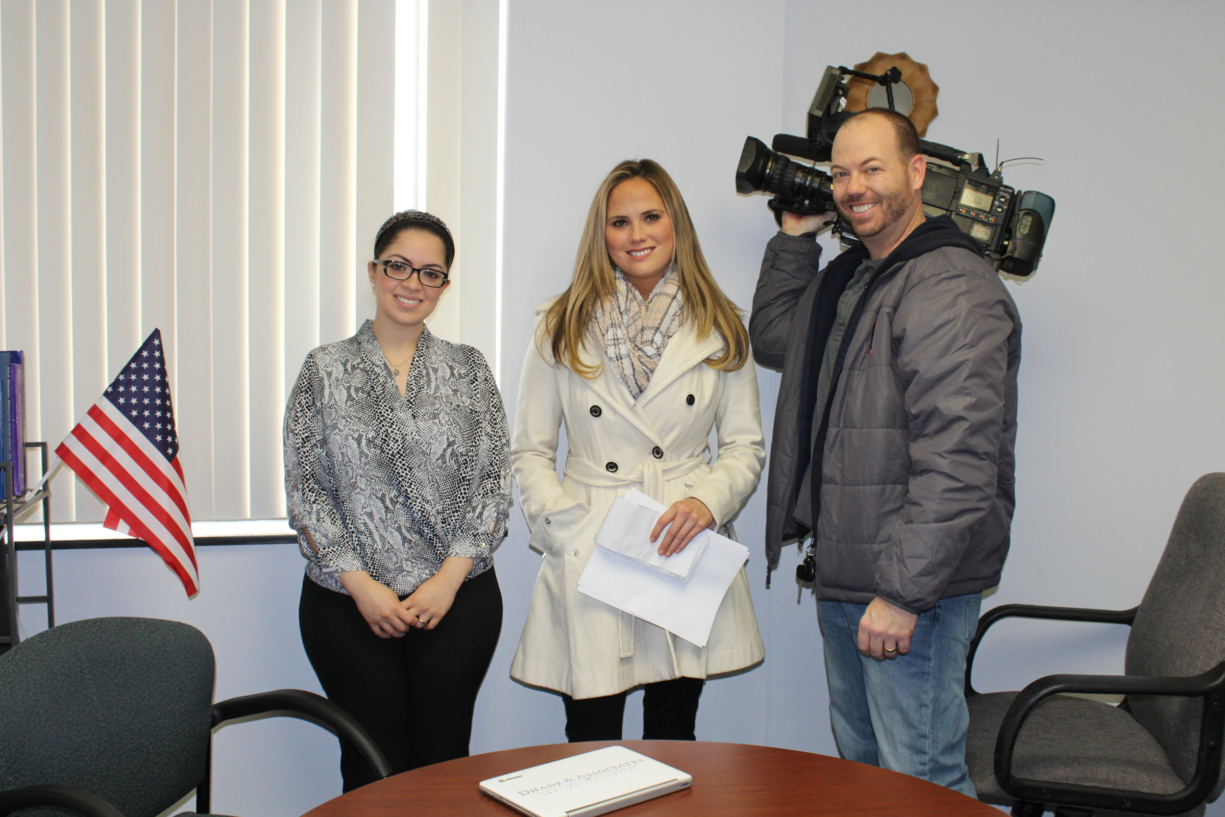 Farah with the Fox Channel 2 News Crew