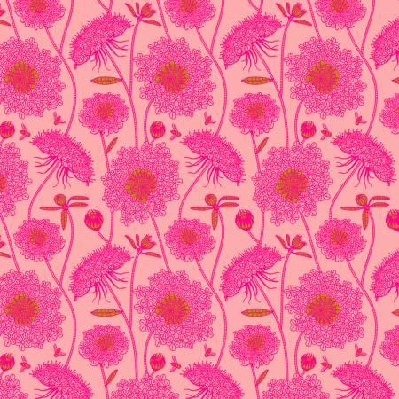 """Bubblegum Lacey by Anna Maria Horner for Free Spirit 44"""" - $9 yard"""