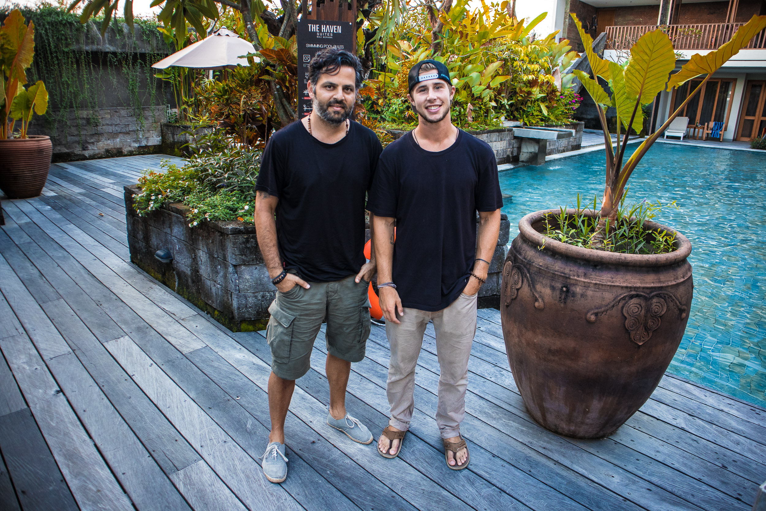 Michael, Founder of My Chi Journey, and Chase in Bali, Indonesia.